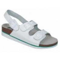 CANIS Obuv CORK MEGI sandál kožený bílý dámský 253000310000