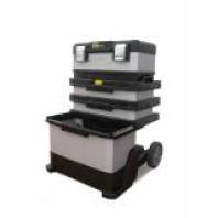 STANLEY Kovoplastový pojízdný montážní box FatMax 89,3 x 56,8 x 38,9 cm, 1-95-622