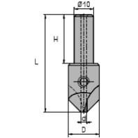 NORMA Záhlubník se vsazeným vrtákem, d=4. 01545