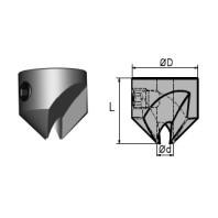 NORMA Záhlubník nástrčný dvoubřitý na pr. 4 mm HSS 01640