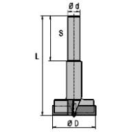 NORMA Sukovník s válcovou upínací stopkou SK pr. 24 mm, stopka 10x40 mm 45024