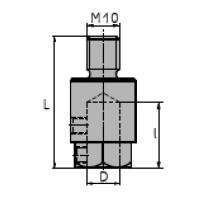 NORMA Redukce pro kolíčkovací stroj, rovná dosedací plocha, závit, pravá, pr. 71100