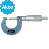 MITUTOYO Třmenový mikrometr 0-25 mm s řehtačkou, 103-137