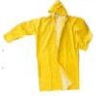 INDUSTRIAL Plášť do deště PVC/POLY/PVC žlutý, zelený 00105