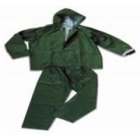 INDUSTRIAL Komplet blůza + kalhoty do deště PVC/POLY/PVC fluorescentní oranžová 00205