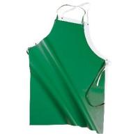 INDUSTRIAL Zástěra PVC/PES/PVC tenká bílá, zelená 00815