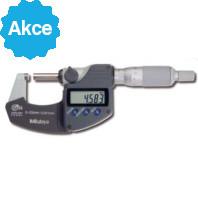 MITUTOYO Digitální třmenový mikrometr DIGIMATIC IP65 s bubínkovou řehtačkou 0-25 mm s výstupem dat, 293-234-30