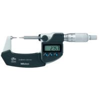 MITUTOYO Digitální třmenový mikrometr DIGIMATIC 0-25 s měřícími hroty a výstupem dat IP65, 342-261-30