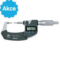 MITUTOYO Digitální třmenový mikrometr DIGIMATIC 0-25 mm s osazenými měřícími plochami a výstupem dat  IP65, 331-251