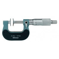 MITUTOYO Třmenový mikrometr 225-250 mm ve zvláštním provedení s noniem, talířkovými doteky a otáčivým vřetenem, 123-110