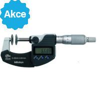 MITUTOYO Digitální třmenový mikrometr DIGIMATIC 0-25 mm ve zvláštním provedení s talířkovými měřícími doteky a výstupem dat IP65, 323-250-30