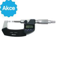 MITUTOYO Digitální třmenový mikrometr DIGIMATIC 0-25 mm s úzkými měřícími plochami a výstupem dat typ A, 422-230