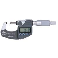 MITUTOYO Digitální třmenový mikrometr DIGIMATIC 0-20 mm s vřetenem ve tvaru hrotu a výsrupem dat IP65, 342-271