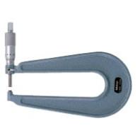 MITUTOYO Třmenový mikrometr 0-25 mm ve zvláštním provedení s hloubkoměrem, 118-102