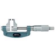 MITUTOYO Třmenový mikrometr 25-50 mm ve zvláštním provedení s měřícími čelistmi, 143-102
