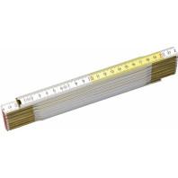 STANLEY Skládací metr dřevěný bílo-žlutý 2 m x 17 mm, 0-35-458