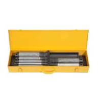 REMS Nippelspanner Set  1/2-3/4-1-1 1/4-1 1/2-2 palce, sada držáků vsuvek s manuálním vnitřním upínáním pro krátké kusy trubek 110621
