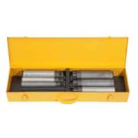 REMS Nippelfix Set 1/2-3/4-1-1 1/4-1 1/2-2 palce, sada držáků vsuvek s automatickým vnitřním upínáním pro krátké kusy trubek 111621