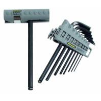 STANLEY Sada klíčů šestihranných zástrčných s kuličkou v nasazovací rukojeti 9dílná, 0-89-904