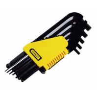 STANLEY Sada klíčů šestihranných zástrčných s kuličkou v palcových mírách v plastovém držáku 12dílná, 0-69-257