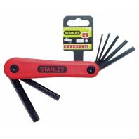 STANLEY Sada nožová klíčů zástrčných šestihranných metrických 7dílná, 4-69-262