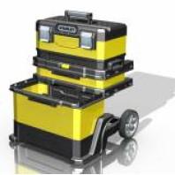 STANLEY Kovoplastový pojízdný montážní box 73 x 56,8 x 38,9 cm, 1-95-621