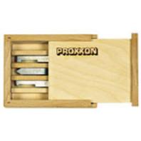 PROXXON Sada soustružnických nožů HSS v dřevěné kazetě 5 ks 24530