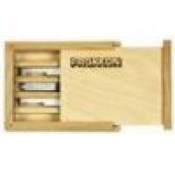 PROXXON Sada soustružnických závitových nožů v dřevěné kazetě 3 ks 24540