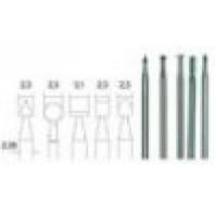 PROXXON Stopkové frézy z wolfram-vanadové oceli 5 ks 28710