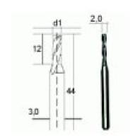 PROXXON Tvrdokovová spirálová fréza 2 mm  28759