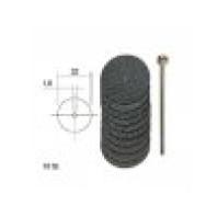 PROXXON Řezací kotoučky s tkaninovou vazbou + trn - 10 ks - 22 mm  28808