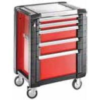 FACOM Montážní vozík JET+3 s 5 zásuvkami červený  JET.5M3