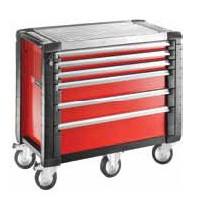 FACOM Montážní vozík JET+5 se 6 zásuvkami červený JET.6M5