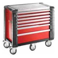 FACOM Montážní vozík JET+5 se 7 zásuvkami červený JET.7M5