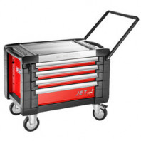 FACOM Pojízdná skříňka JET+3 se 4 zásuvkami červená JET.CR4M3