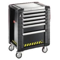 FACOM Montážní vozík JET+3 SAFETY LOCK se 6 zásuvkami černý  JET.6GM3S