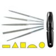NOGA Sada PROMO pilníků NF s rukojetí 5dílná zrno D91, 4205+RD91