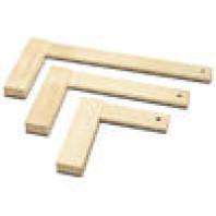 FACHMANN Dřevěný úhelník 90° 750 x 400 x 25 mm M974-01003