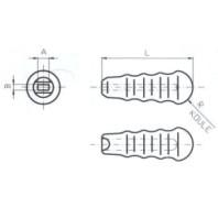 JC-METAL Plastová rukojeť 16x8/105 mm 940 004