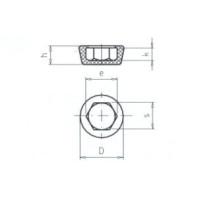 JC-METAL Pryžová opěrka pro M6, 17x9 mm 960 002