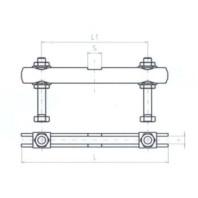 JC-METAL Příčný třmen pro upínač 230, 150x8 mm 995 001