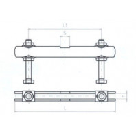 JC-METAL Příčný třmen pro upínač 130, 150x8 mm 995 002