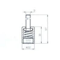 JC-METAL Pružný nádstavec M8 702