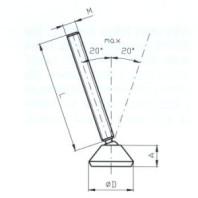 JC-METAL Upínací šroub, upínky,  s výkyvnou hlavou z polyamidu délka 70 mm
