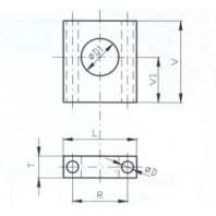 JC-METAL Upínací tělo typ  A pro upínač 340, 355, 40x25x12 mm 971 010