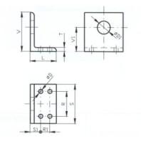 JC-METAL Upínací tělo typ  B pro upínač 340, 355, 25x40 mm 971 013