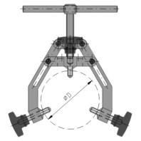 JC-METAL Upínka trubek typ 12-22, upínky, rozsah upnutí 120-220 mm