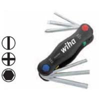 WIHA Sklopný držák PocketStar 351PK6X s kombinovaným osazením, 6dílný 24859