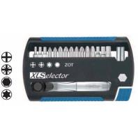 WIHA Zásobník nástavců XLSelector Torsion 7948043 směs, s ráčnou nástavce 1/4 36951