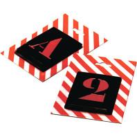 Kovové šablony versálka Čísla, 10 číslic, výška 50 mm 21050